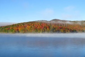 lake whitingham in fall